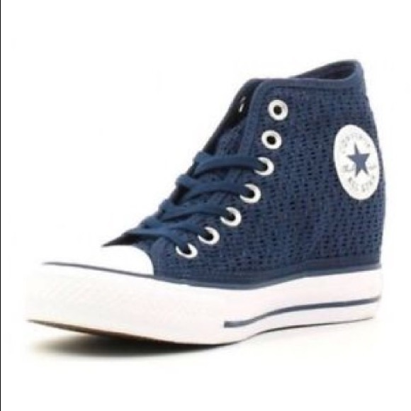 e2184e3ee1e Converse Shoes - Converse blue chuck Taylor all star lux mid wedge